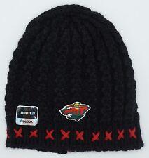 NHL Minnesota Wild Reebok Womens Cuffless Winter Knit Hat Cap Beanie NEW!