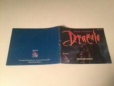 Bram Stoker's Dracula - Nintendo,Nes - Instruction Manual ONLY