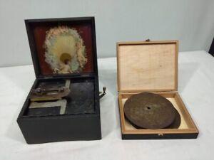 Symphonion & Simplex , Spieldose um 1900 mit 11 Platten 14,5 cm