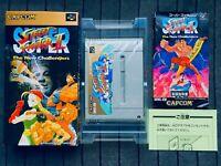 Super Street Fighter II 2 Super Famicom SFC SNES Nintendo Japan Box Manual CIB