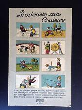 Joli Ancien album à colorier magique Le coloriste sans couleurs TBE Gerardin