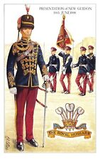 Postcard The Royal Hussars Presentation of New Guidon (1990) by Geoff White