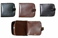 MENS GENTS REAL LEATHER COIN WALLETS COIN PURSE WALLET CHANGE POUCH COIN TRAY