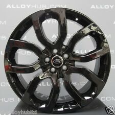 "GENUINE RANGE ROVER L405/L494 SPORT 22"" STYLE 504 GLOSS BLACK ALLOY WHEELS X4"
