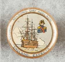 World War 1 Adelaide Australia 1917 Nelsons Day Recruitment Pinback Button Badge