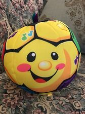 Musical Baby Toy Fisher-Price Laugh Learn Singin Soccer Ball Yellow 6-36 Mo #2B