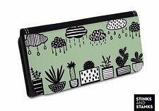 Portemonnaie Kaktus, Florales Muster, Kaktee, Kaktus Stoff, Kaktus Muster