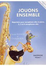 Partition pour saxophone - C Bois C Delangle - Jouons Ensemble