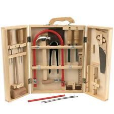 Kinder Werkzeug Laubsägekasten Werkzeugkasten 17tlg Holz Werkzeugkoffer Zubehör