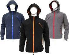 Mens Rain Jacket Fashion Windbreaker Winter Coat Overcoat Outwear Black Zip