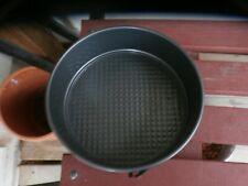 "1 Round Spring Form Cake Tins Baking Pan Non Stick Carbon Steel 8""Perfect Condit"