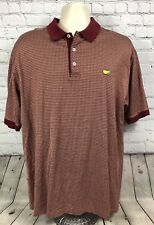 "Men's Clubhouse Collection "" The Masters "" Red Plaid Golf Shirt Large Augusta"