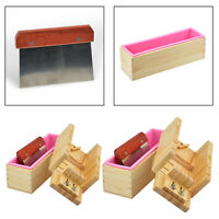 Silicone Soap Mold Loaf Wood Box Straight Cutter Slicer DIY Candles Planer