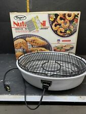 Dazey Nutri-Broil Indoor Smokeless Electric Grill Model 26221 Tested & Working