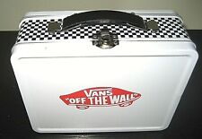 Vans Vintage Off The Wall Checkerboard Black & White collectible metal Lunch Box