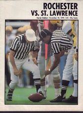 Rochester vs. St. Lawrence 1979 Football Program 071517nonjhe