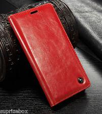 De Diseño Piel Auténtica Retro Funda con Soporte Tipo Cartera Samsung S7 S8 Note