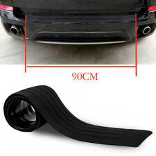 1x 90CM Black Strip Car Rear Bumper Cover Protector Trunk Scuff Plate Guard GT