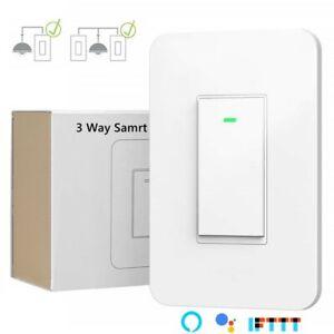Smart Light Switch 3 Way, WiFi Light Switch Single Pole or 3-Way Switch Alexa