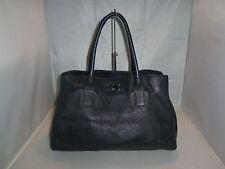 Furla Handbag Appaloosa Large Black Onyx Leather Tote Bag, Purse, Satchel $348