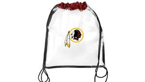 Washington Redskins   NFL Clear Drawstring Backpack