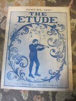THE ETUDE /monthly music  magazine / august,1907/used/good condition