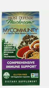 Host Defense My Community Comprehensive Immune 120 Caps FACTORY SEALED NEW