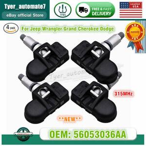 1-5 TPMS 56053036AA Tire Pressure Sensor For Jeep Wrangler Grand Cherokee Dodge