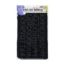 Dritz Iron-on Letters - Black- Soft Flock- Monogram