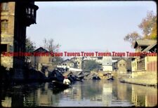 #123  11/5/1966 INDIA Kashmir Srinagar Canal Boat 35mm Slide