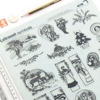 Letraset CHRISTMAS MOTIFS Sheet: 4119 VGC Rub On Transfer Symbols