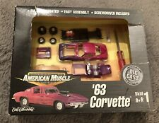 ERTL Collectibles American Muscle '63 Corvette 1:64 Diecast Assembly Kit Chevy