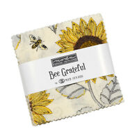 Moda Fabrics Mini Charm Pack - Bee Grateful by Deb Strain. 2 1/2 in squares