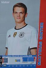 MATTHIAS GINTER - A3 Poster (ca 42 x 28 cm) - Fußball EM 2016 Clippings Sammlung