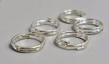Jump Rings Split Rings 5mm Double Loop Jump Rings Silver Jump Rings BULK 500pc
