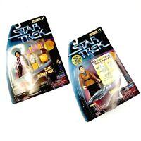Star Trek Constable Odo Cadet Deanna Troi Warp Factor Series 1 3 Figures Vintage