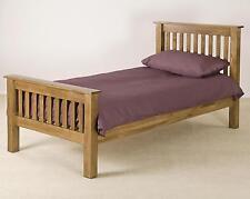 Delaware solid oak furniture 3' single high end bed