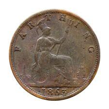 More details for km# 747 - farthing - freeman 509 (3+b) - victoria - great britain 1863 (fair)