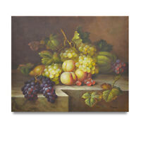 NY Art - Traditional Fruit Still Life 20x24 Original Oil Painting - On Sale!