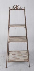 Iron Shelf Antique Braun