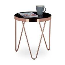 Relaxdays 10020414 Tavolino per soggiorno in metallo e Vetro Design...