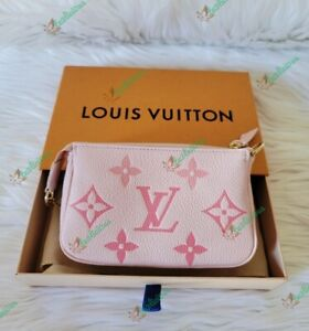 LOUIS VUITTON MONOGRAM EMPREINTE BY THE POOL ROSE PINK MINI POCHETTE