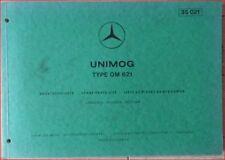 Mercedes Unimog Type OM 621 Ersatzteilliste