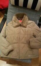 ESPRIT Beige faux fur trim jacket - gorgeous, spotless! Barely worn