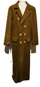 1996 DOCTOR WHO Licensed By BBC Cosplay Halloween Costume Trench Coat Mens S/M