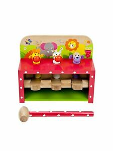 Mousehouse Wooden Safari Pop Up Toy Hammer and Pegs Toy Toddler Toys  Boy Girl