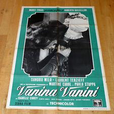 VANINA VANINI manifesto poster Sandra Milo Martine Carol Terzieff Rossellini G9