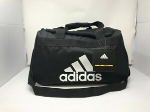 NWT ADIDAS Diablo Small II Duffel Gym Bag/Travel Bag - Black w/White Logo