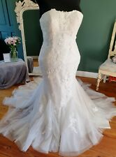 Brand New, Never Worn Fishtail Boho Lace Wedding dress Size 18 - Berketex Meryl