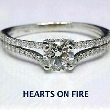 Hearts on Fire Diamond Engagement Ring Round 1.50 ct 14K White Gold $9000 Retail